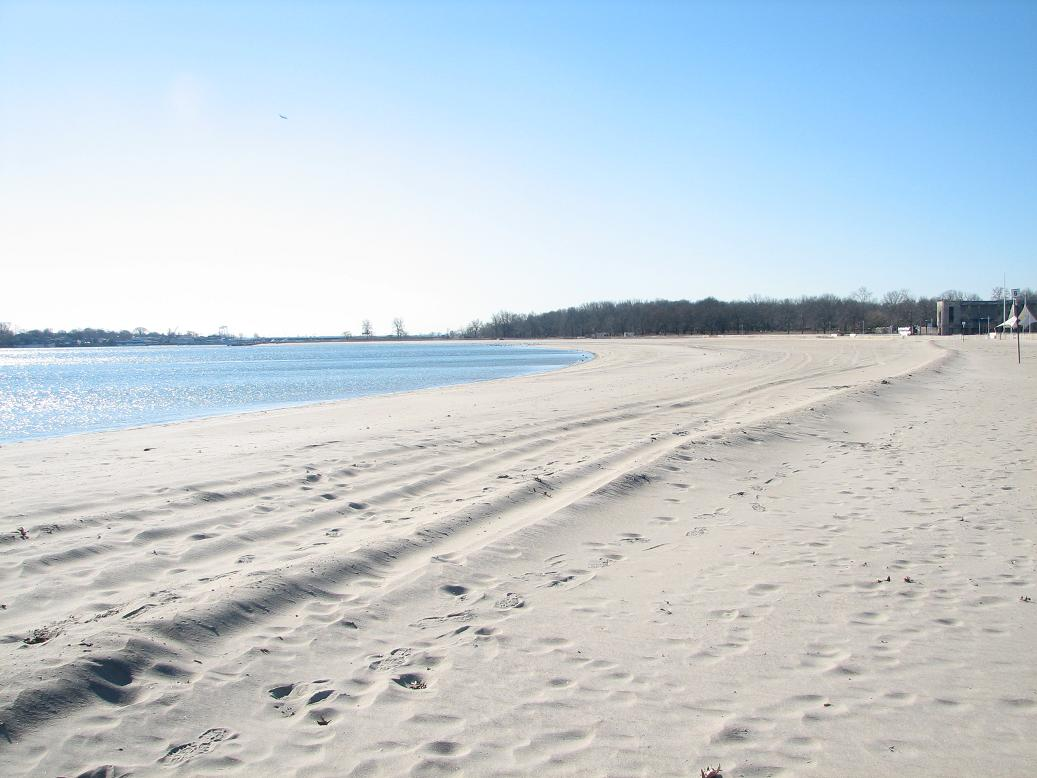 And Not At All The Natural Sline Of Long Island Sound In This Area To Build Beach Workers Took 1 2 Million Cubic Yards Sand From Sandy Hook
